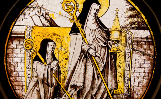 St Clare holding the Monstrance