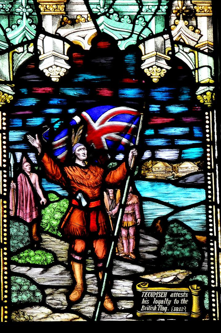 Tecumseh with British Flag