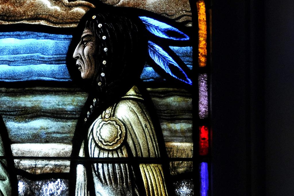 Gaze of Chief Peguis, Western Art Glass, c. 1975