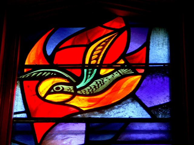 Bird of the Holy Spirit. Catholic College, U of Sask. Rambusch, New York, 1954