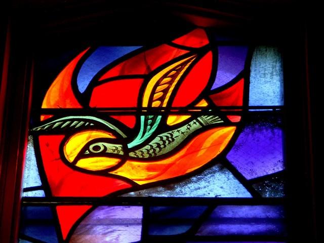 Bird of the Holy Spirit. Catholic College, U of Sask. Rambusch, New York, 1954