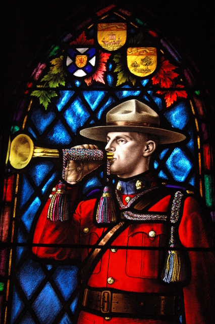 Maritimes Provinces Crests and Mountie (detail) – Institute