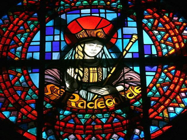 St Radegonde Dalle de Verre. Rault, France, c.