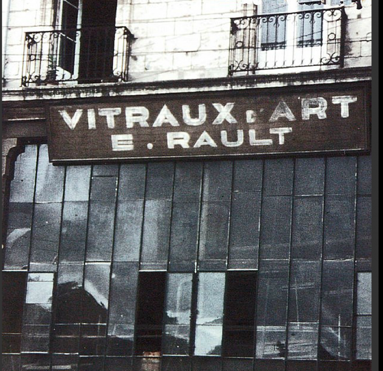 The large atelier building constructed for Vitraux D'Art E. Rault, c. 1952