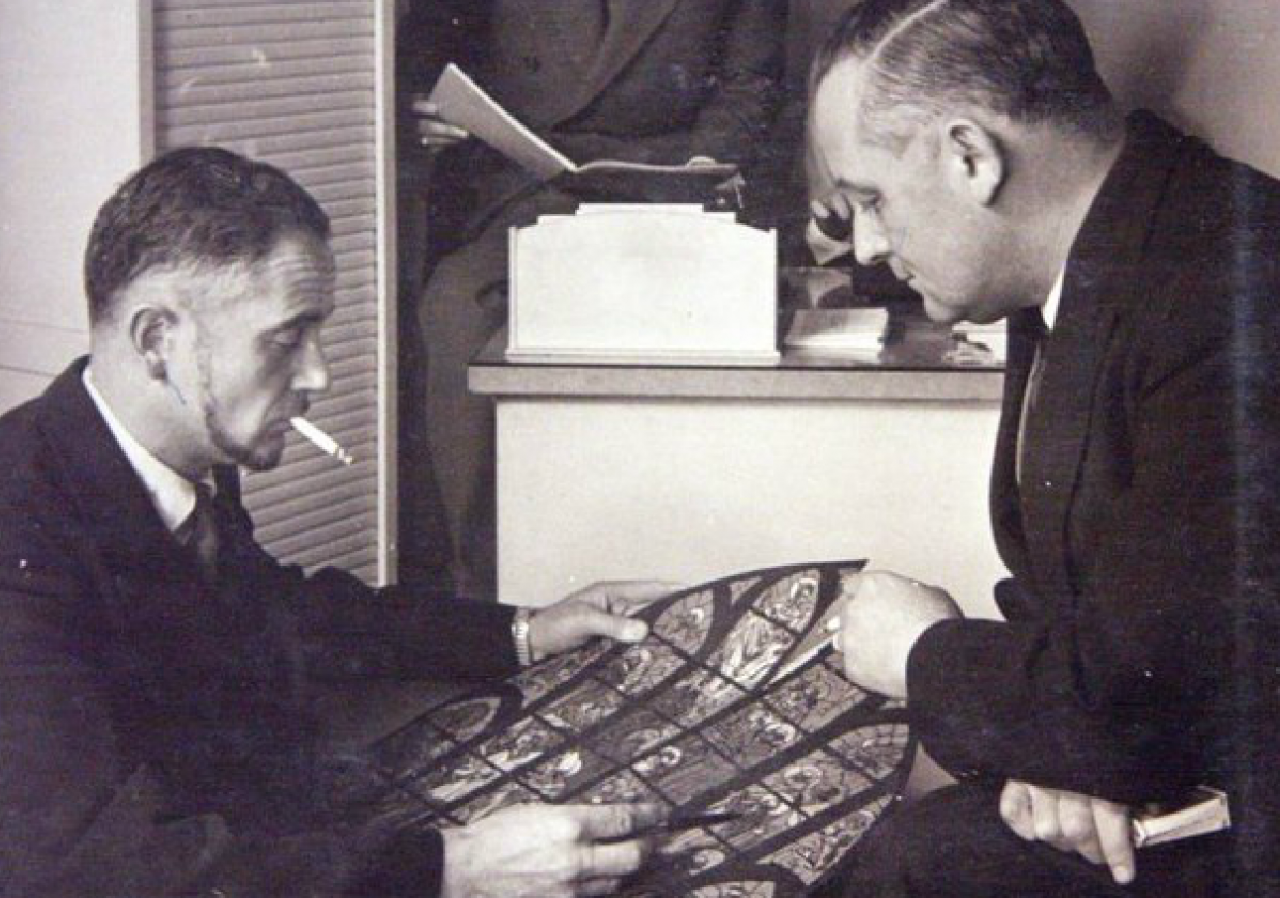 Andre and Paul Rault with Maquette