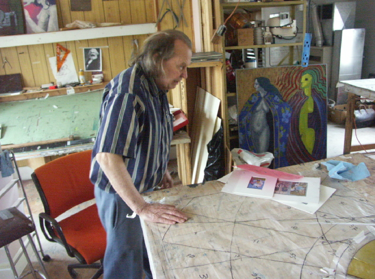 David Johnson in his studio, 2004