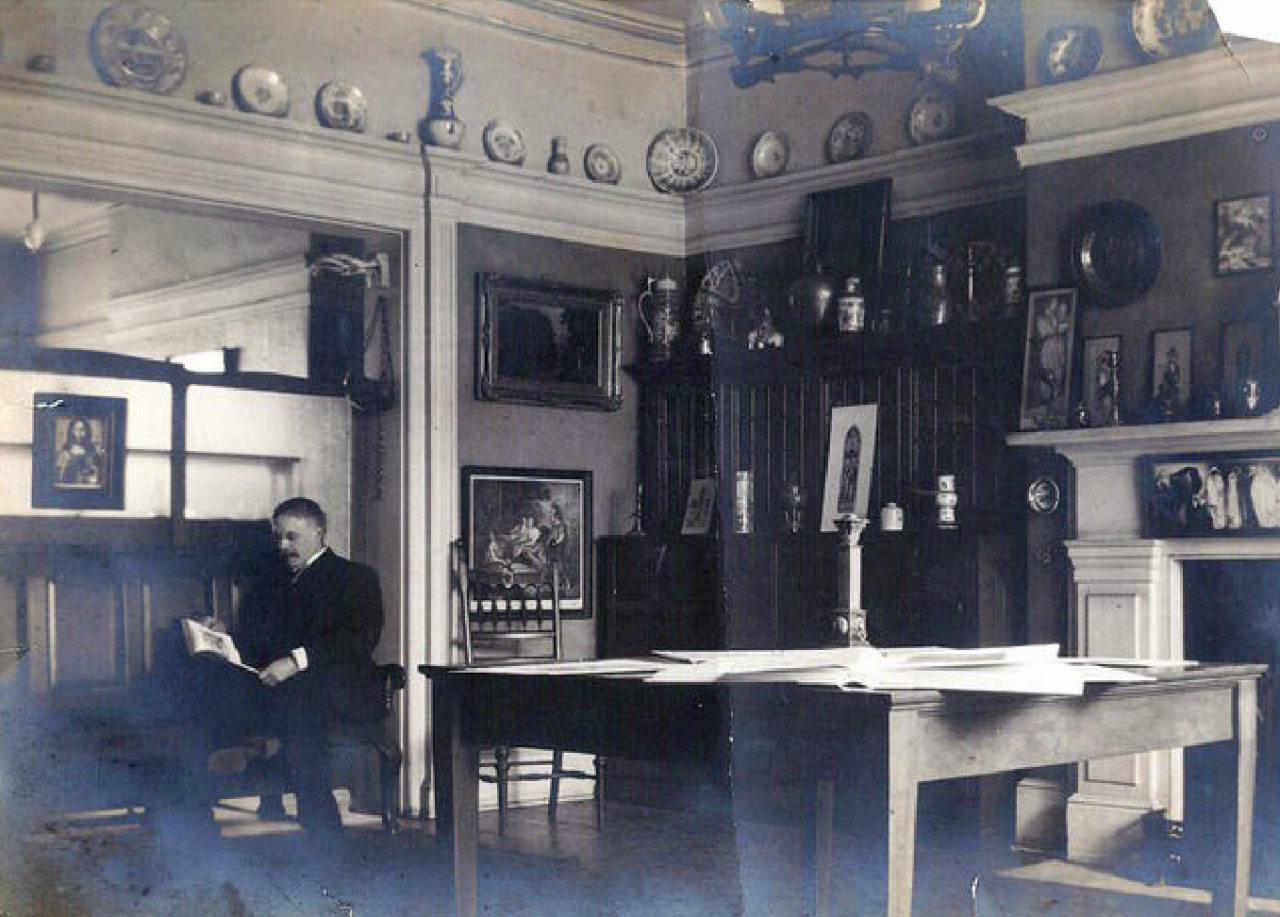 Robert McCausland in his studio c. 1910